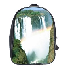 Zambia Waterfall School Bag (Large) from DesignYourOwnGift.com Front