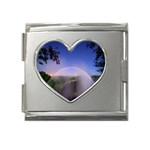 Zambia Rainbow Mega Link Heart Italian Charm (18mm)