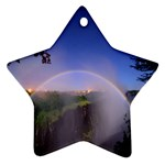 Zambia Rainbow Star Ornament (Two Sides)