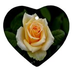 Yellow Rose Ornament (Heart)