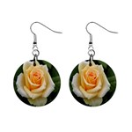Yellow Rose 1  Button Earrings
