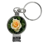 Yellow Rose Nail Clippers Key Chain