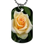 Yellow Rose Dog Tag (Two Sides)