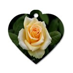 Yellow Rose Dog Tag Heart (Two Sides)