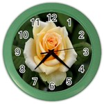Yellow Rose Color Wall Clock