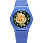 Yellow Rose Round Plastic Sport Watch Small