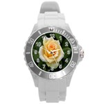 Yellow Rose Round Plastic Sport Watch Large