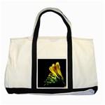Yellow Freesia Flower Two Tone Tote Bag