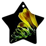 Yellow Freesia Flower Star Ornament (Two Sides)