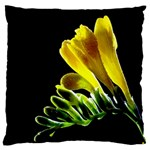Yellow Freesia Flower Large Cushion Case (One Side)