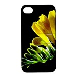 Yellow Freesia Flower Apple iPhone 4/4S Hardshell Case with Stand