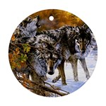 Wolf Family Love Animal Ornament (Round)