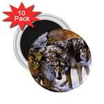 Wolf Family Love Animal 2.25  Magnet (10 pack)