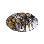 Wolf Family Love Animal Sticker Oval (10 pack)