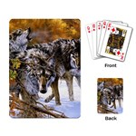 Wolf Family Love Animal Playing Cards Single Design