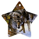Wolf Family Love Animal Star Ornament (Two Sides)