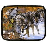 Wolf Family Love Animal Netbook Case (Large)