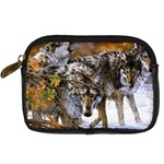Wolf Family Love Animal Digital Camera Leather Case