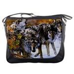 Wolf Family Love Animal Messenger Bag
