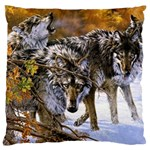 Wolf Family Love Animal Large Cushion Case (Two Sides)
