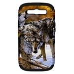 Wolf Family Love Animal Samsung Galaxy S III Hardshell Case (PC+Silicone)