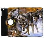 Wolf Family Love Animal Apple iPad Mini Flip 360 Case