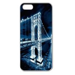 George Washington Bridge New Jersey Manhattan Hudson River Apple Seamless iPhone 5 Case (Clear) from DesignYourOwnGift.com Front