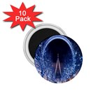 London Eye And  Ferris Wheel Christmas 1.75  Magnet (10 pack)