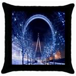 London Eye And  Ferris Wheel Christmas Throw Pillow Case (Black)