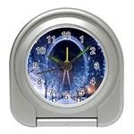 London Eye And  Ferris Wheel Christmas Travel Alarm Clock