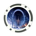 London Eye And  Ferris Wheel Christmas Poker Chip Card Guard