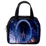 London Eye And  Ferris Wheel Christmas Classic Handbag (One Side)