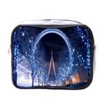 London Eye And  Ferris Wheel Christmas Mini Toiletries Bag (One Side)