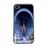 London Eye And  Ferris Wheel Christmas Apple iPhone 4 Case (Clear)