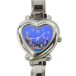 Usa New York Skycrapers Heart Italian Charm Watch