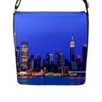 Usa New York Skycrapers Flap Closure Messenger Bag (Large)