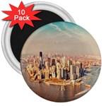 New York Manhattan 3  Magnet (10 pack)