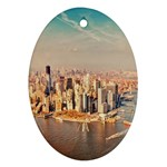 New York Manhattan Oval Ornament (Two Sides)