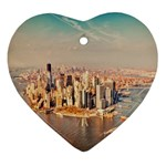 New York Manhattan Heart Ornament (Two Sides)