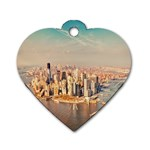 New York Manhattan Dog Tag Heart (Two Sides)
