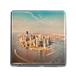 New York Manhattan Memory Card Reader with Storage (Square)