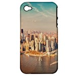 New York Manhattan Apple iPhone 4/4S Hardshell Case (PC+Silicone)