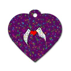 Your Heart Has Wings So Fly   Updated Dog Tag Heart (one Sided)  by KurisutsuresRandoms