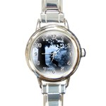 Animal Deer In Forest Round Italian Charm Watch