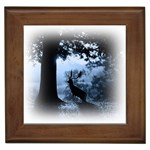 Animal Deer In Forest Framed Tile