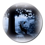 Animal Deer In Forest Round Mousepad