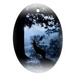 Animal Deer In Forest Ornament (Oval)