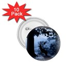 Animal Deer In Forest 1.75  Button (10 pack)