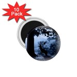 Animal Deer In Forest 1.75  Magnet (10 pack)