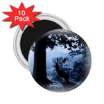 Animal Deer In Forest 2.25  Magnet (10 pack)
